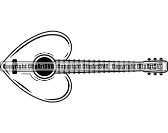 Clipart guitar heart. Eps etsy
