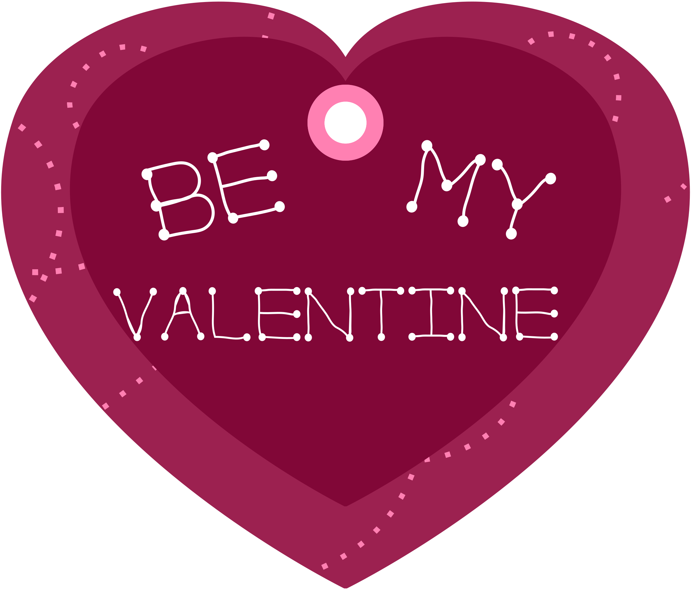 Be my valentine shaped. Gift clipart heart gift