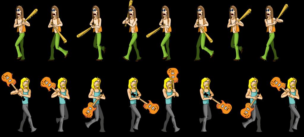 Clipart guitar hippie. Axe timeless power sprites