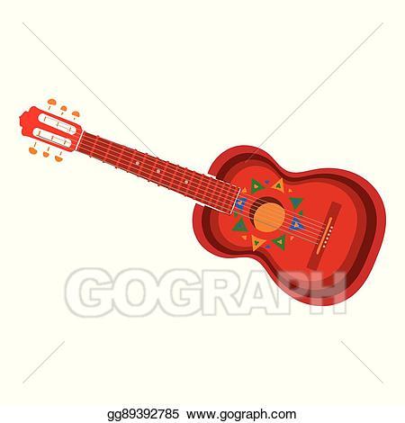 Clipart guitar hispanic. Clip art vector spanish