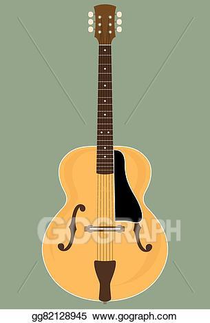 Vector stock illustration gg. Clipart guitar jazz guitar
