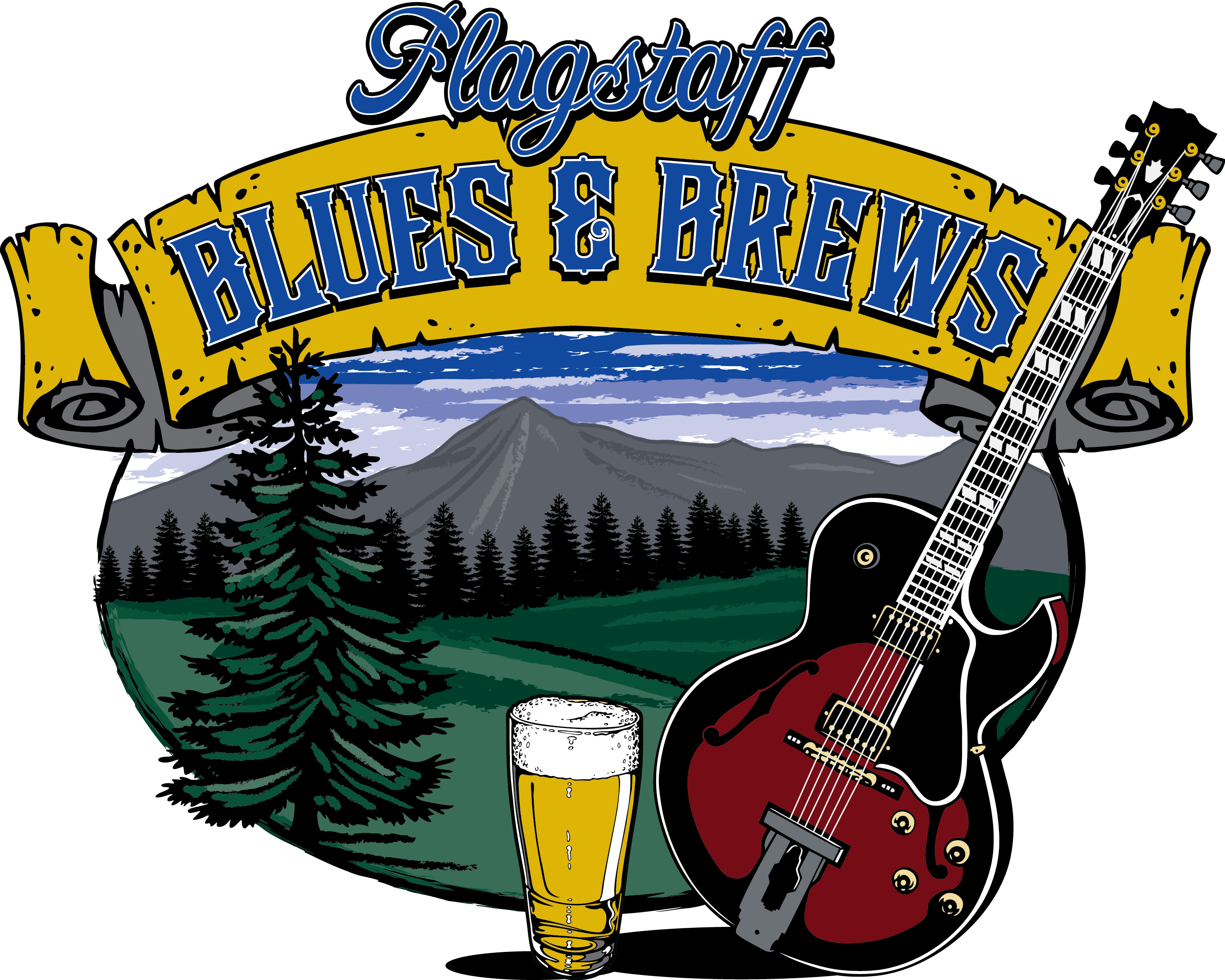 Flagstaff blues and brews. Clipart guitar laud