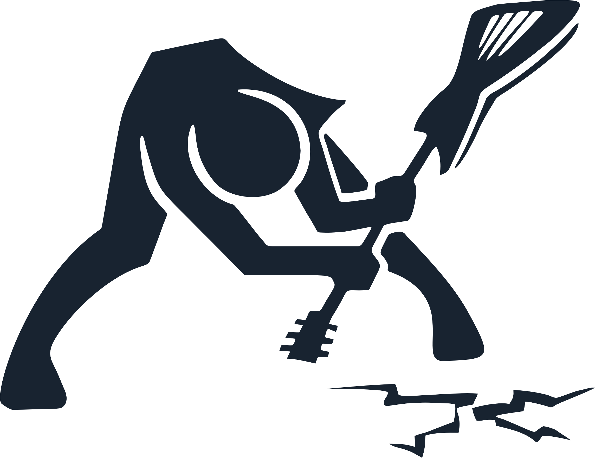 Breaking ground with guitar. Poverty clipart silhouette