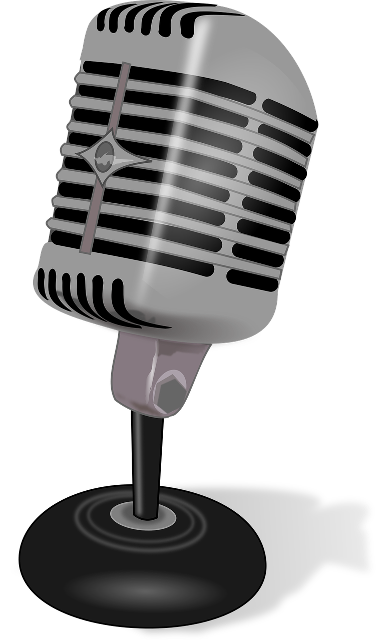 Free image on pixabay. Retro clipart microphone