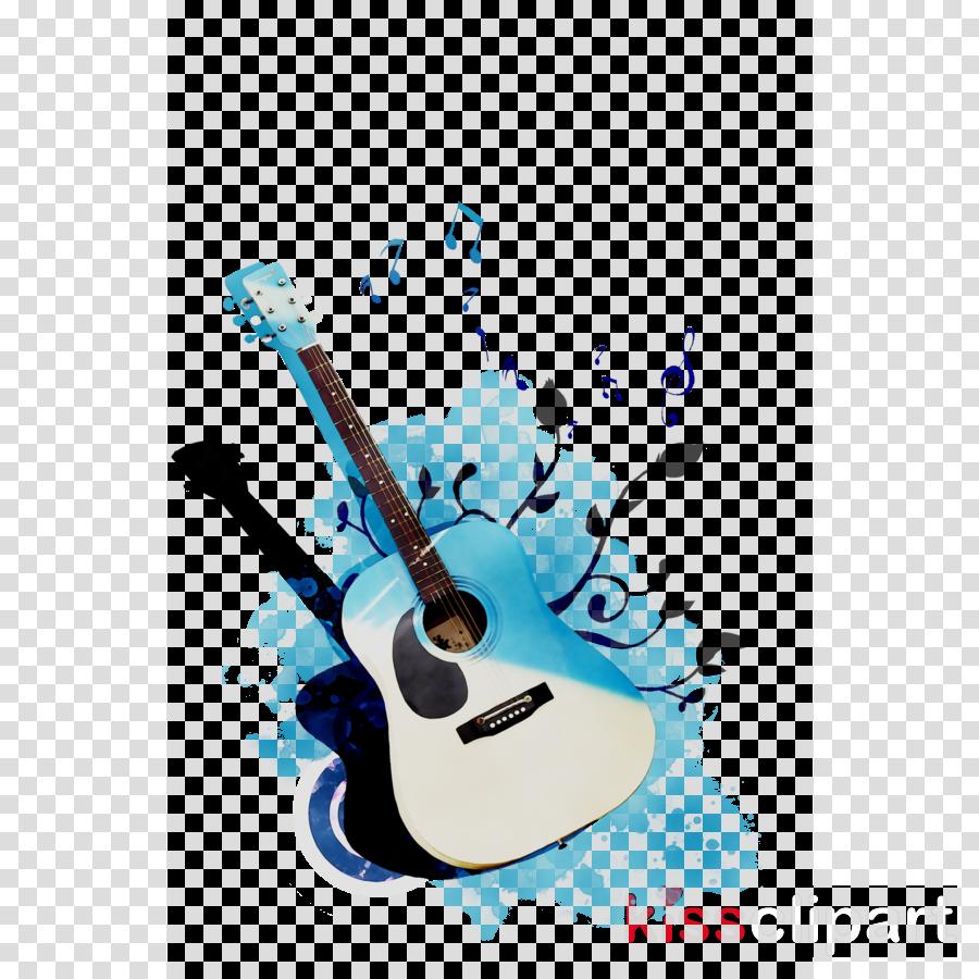 Guitar clipart microphone. Cartoon illustration