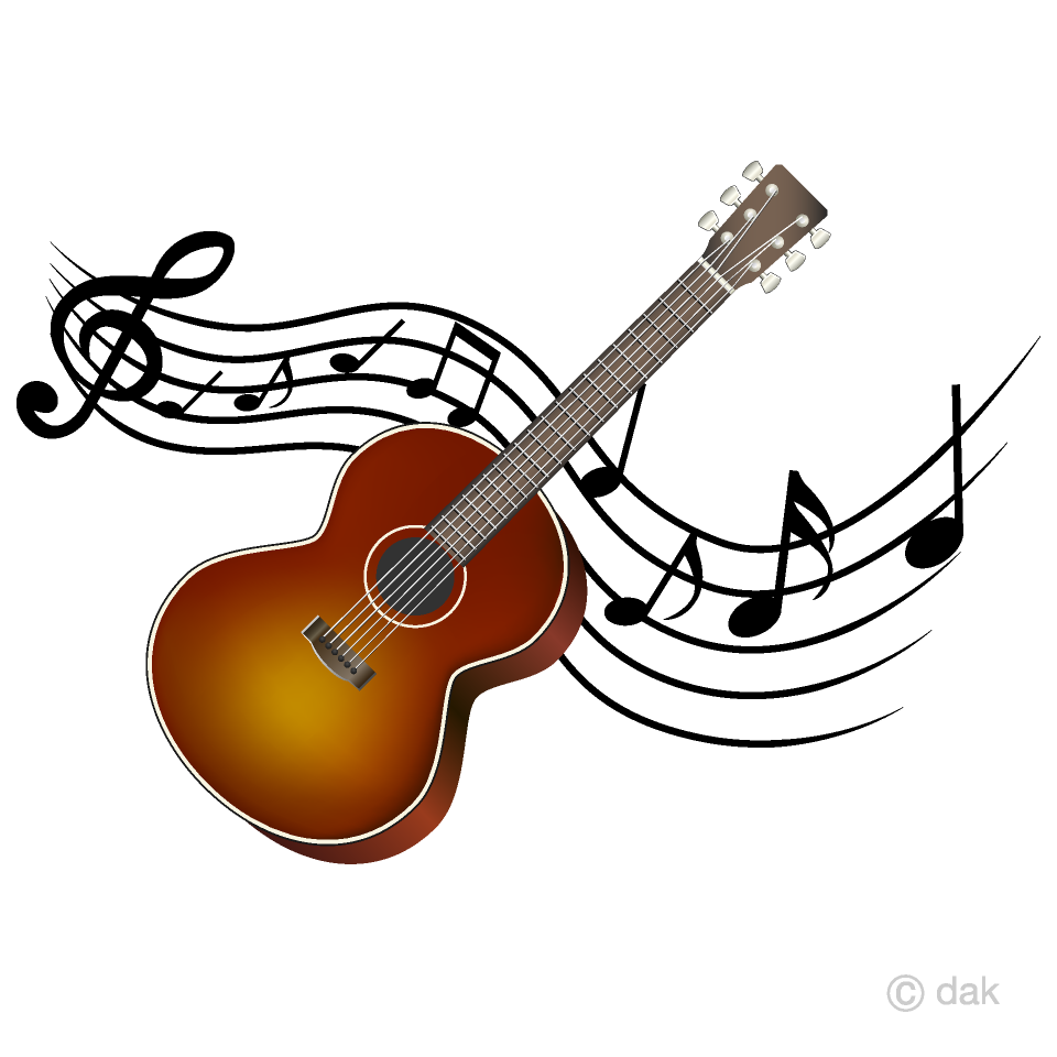 And musical note waving. Clipart guitar music guitar