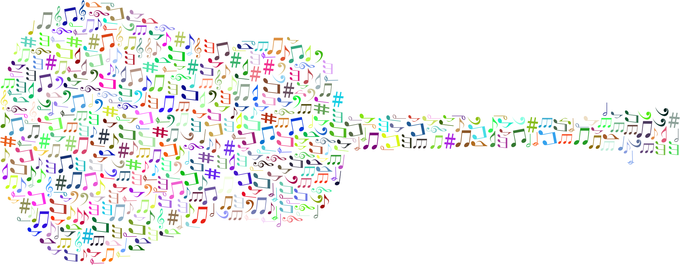 Prismatic musical notes old. Clipart guitar note clipart