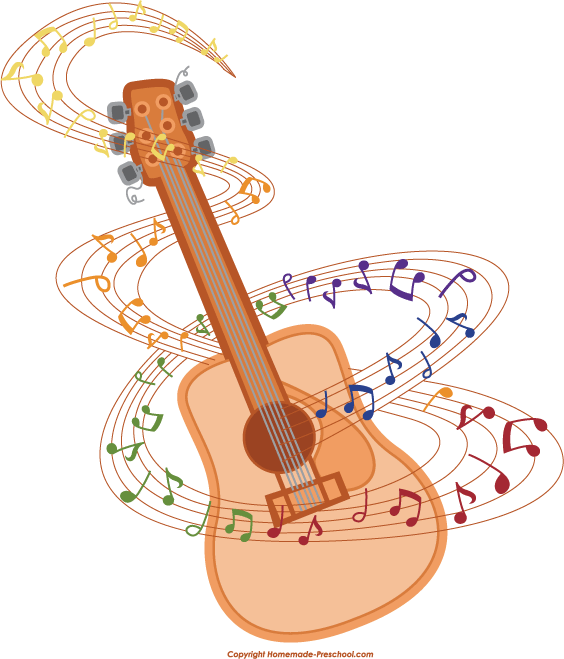 Clipart guitar note clipart. Notes clip art library