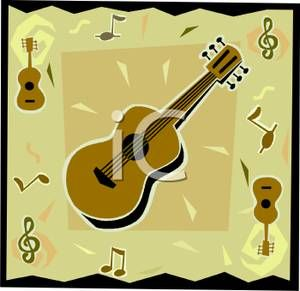 Royalty free image music. Clipart guitar note clipart