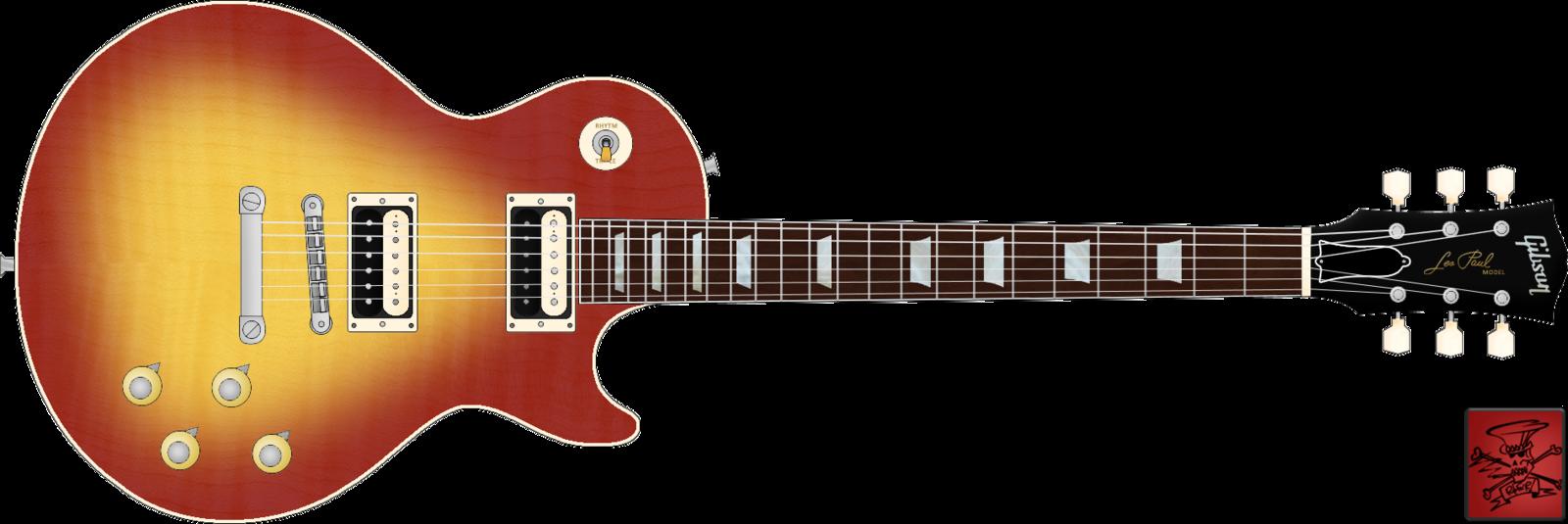Clipart guitar octavina. Les paul drawing at