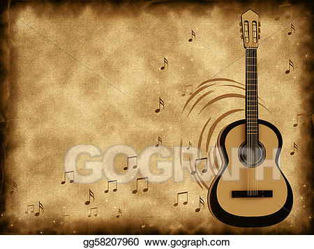Clipart guitar old guitar. Stock illustration gg gograph