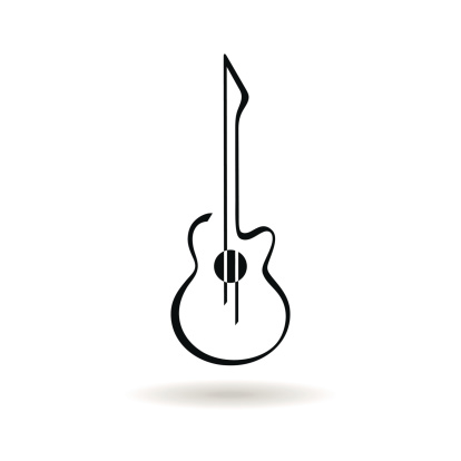 Clipart guitar outline. Free download best on