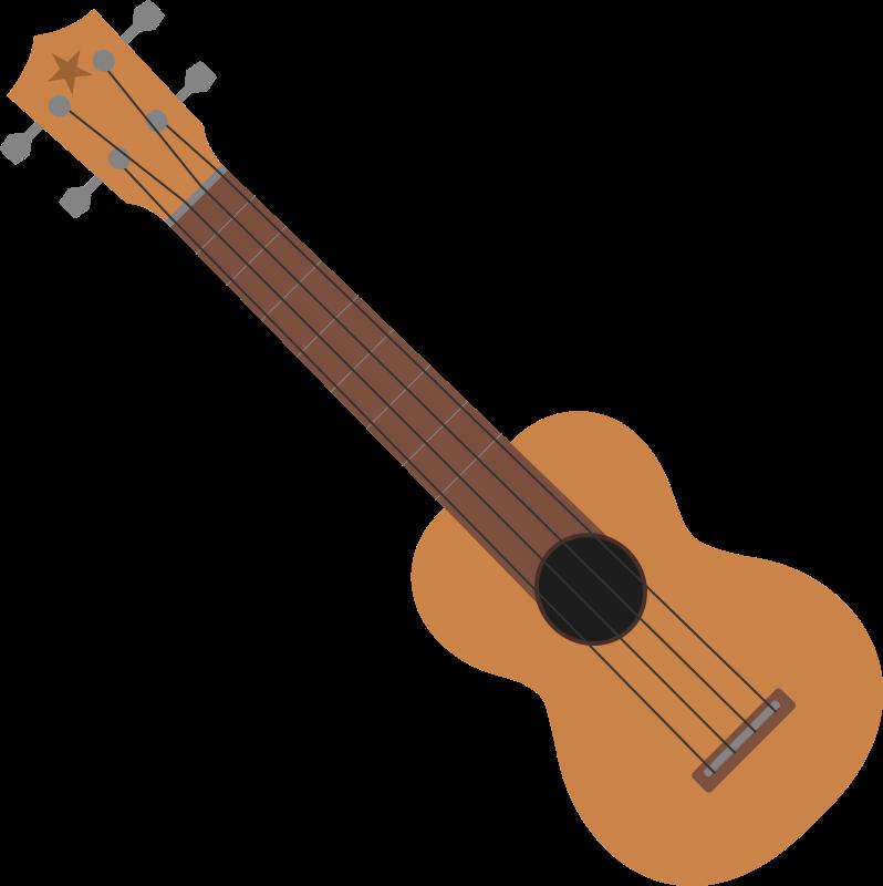 Simple ukulele no medium. Clipart guitar outline