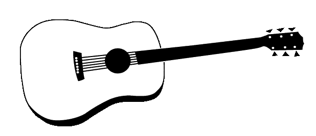 Free outline cliparts download. Clipart guitar printable