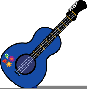 Free images at clker. Clipart guitar public domain