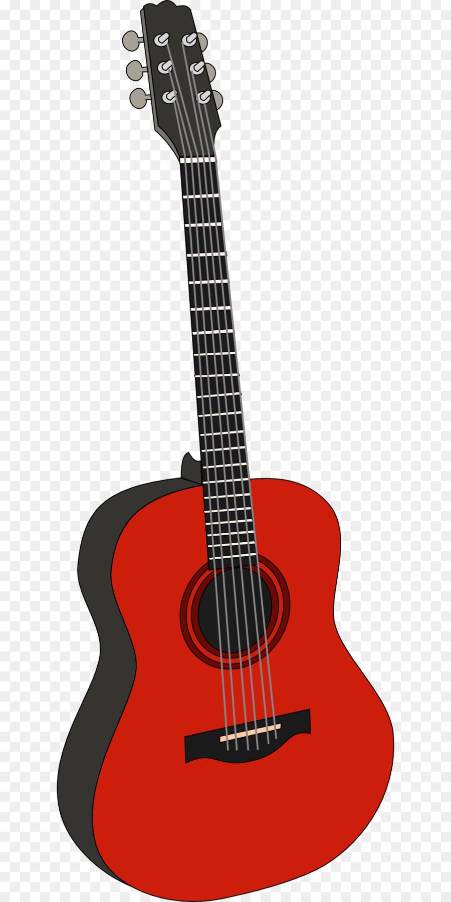 Clipart guitar red guitar. Cartoon illustration transparent