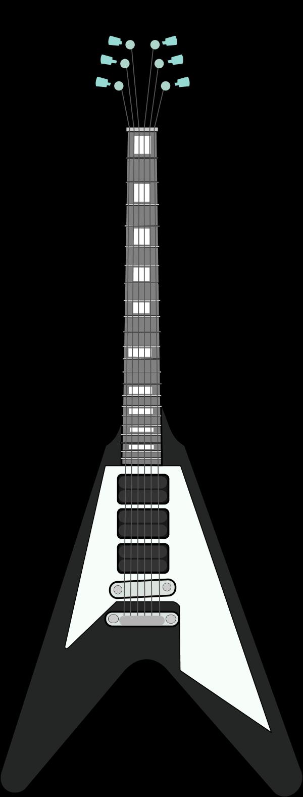 Rock panda free images. Outline clipart guitar