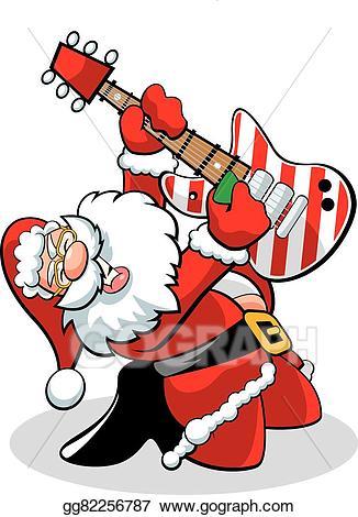 Vector stock illustration gg. Clipart guitar santa