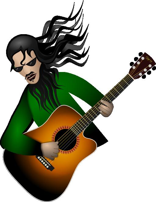 Clipart guitar santa. Dude i royalty free