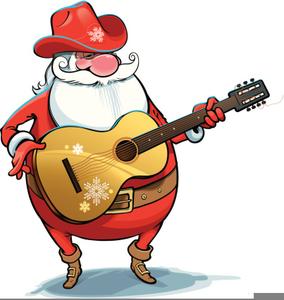 Clipart guitar santa. Country free images at
