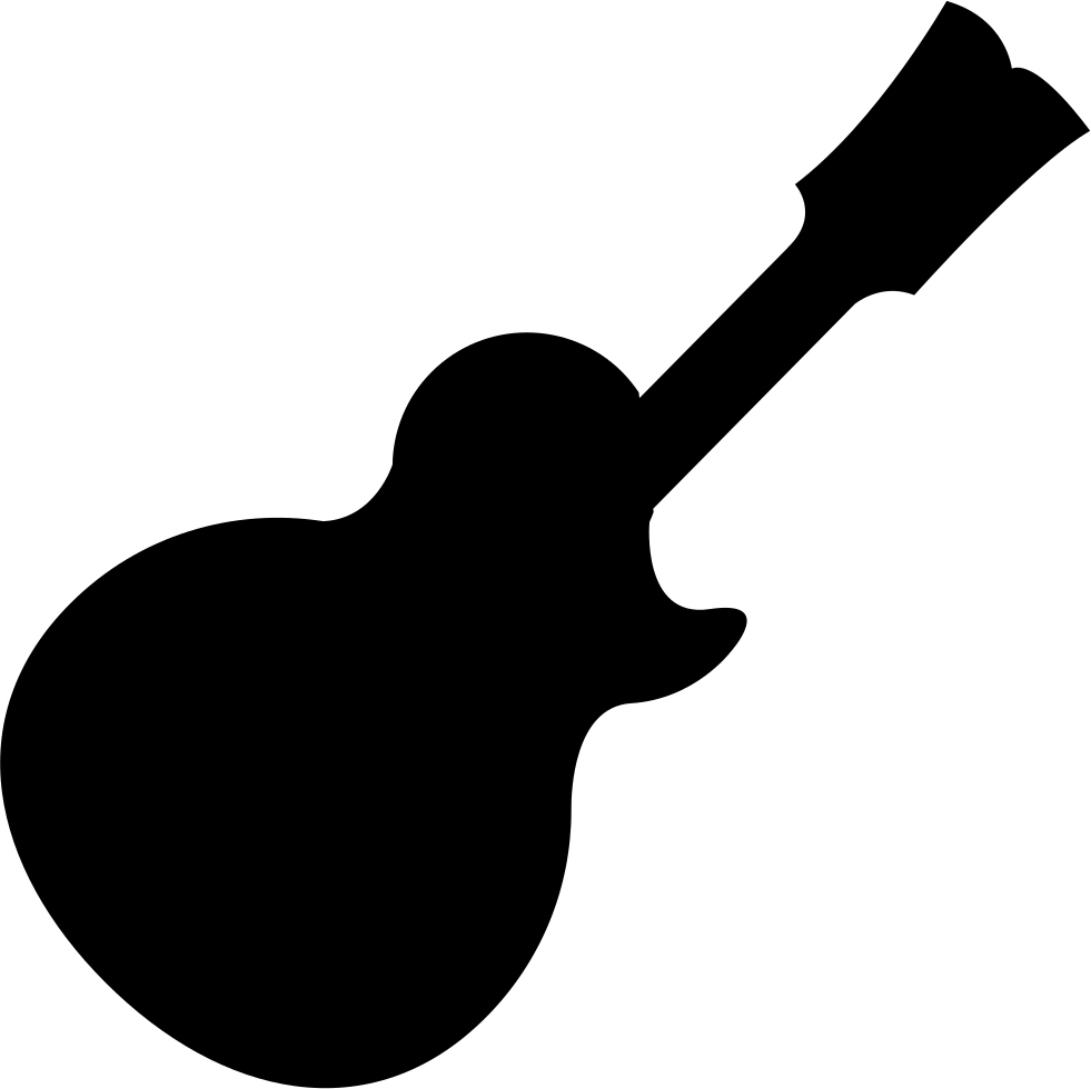 Music black svg png. Clipart guitar silhouette