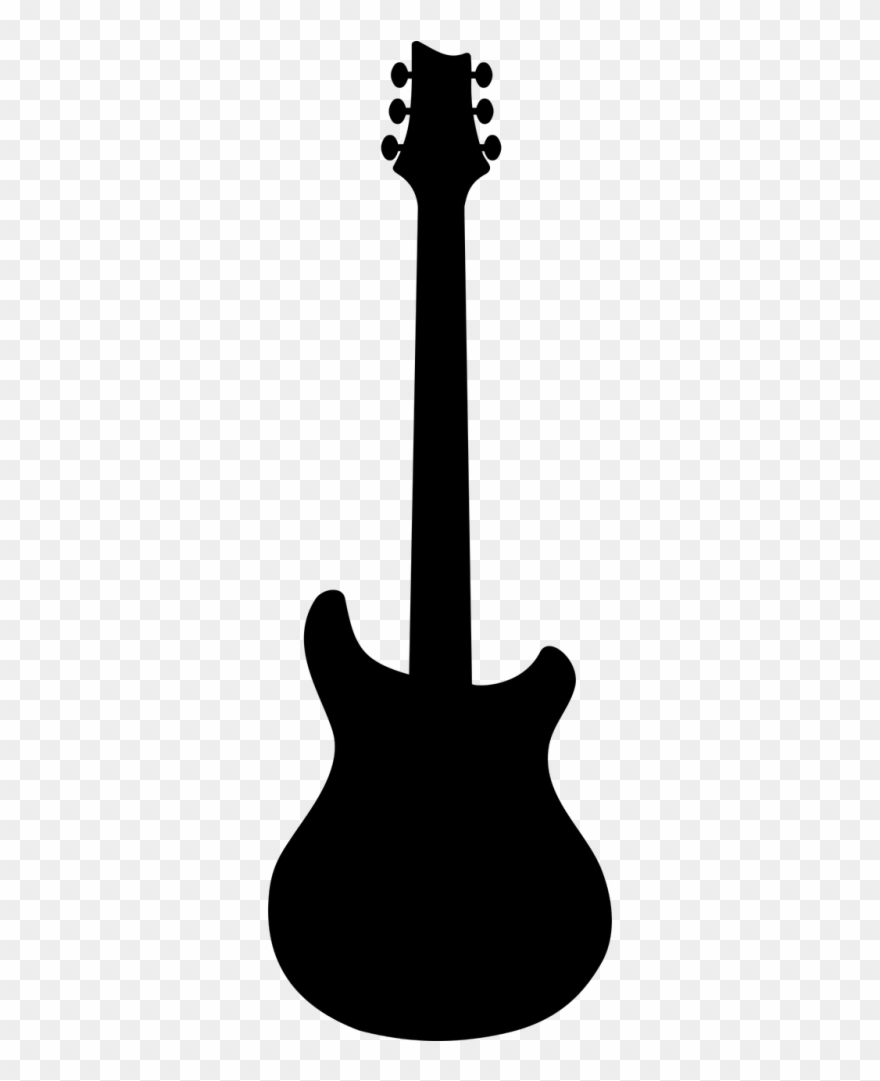 Clipart guitar silhouette. String prs pinclipart