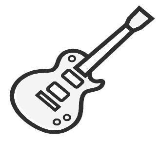 Guitar clipart simple.