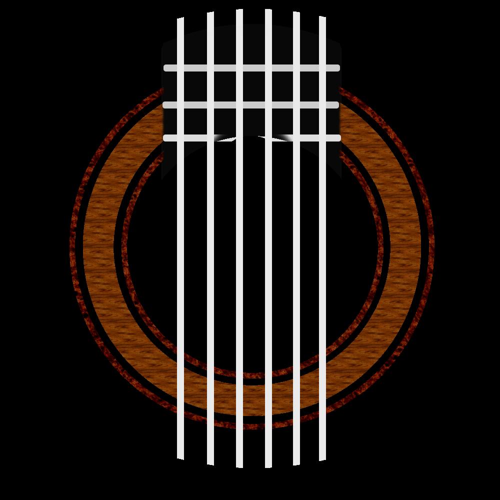 Clipart guitar simple. Classical rosette w o