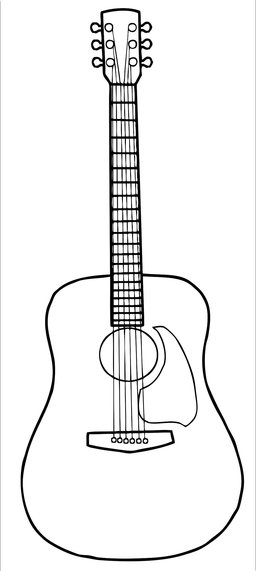 Clipart guitar simple.