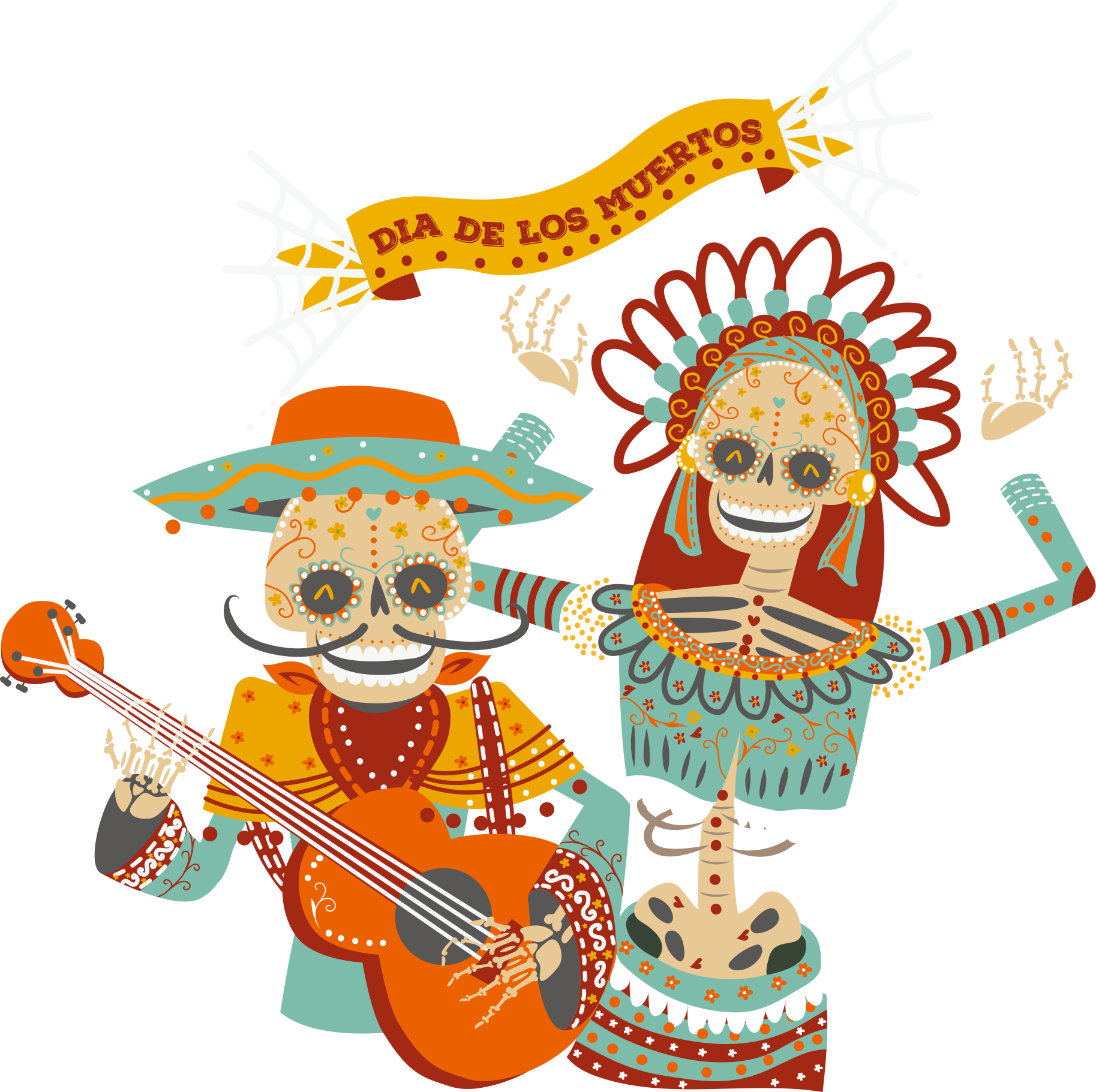Music t shirt vector. Guitar clipart skull