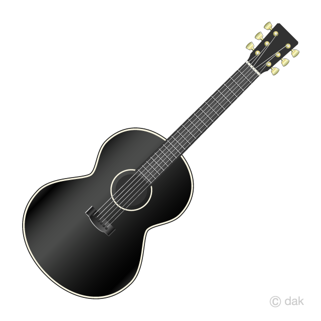 Clipart guitar spiral. Black acoustic free picture