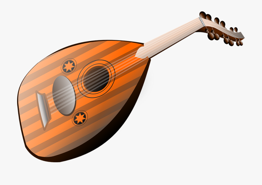 Mandolin musical lute strings. Clipart guitar string instrument