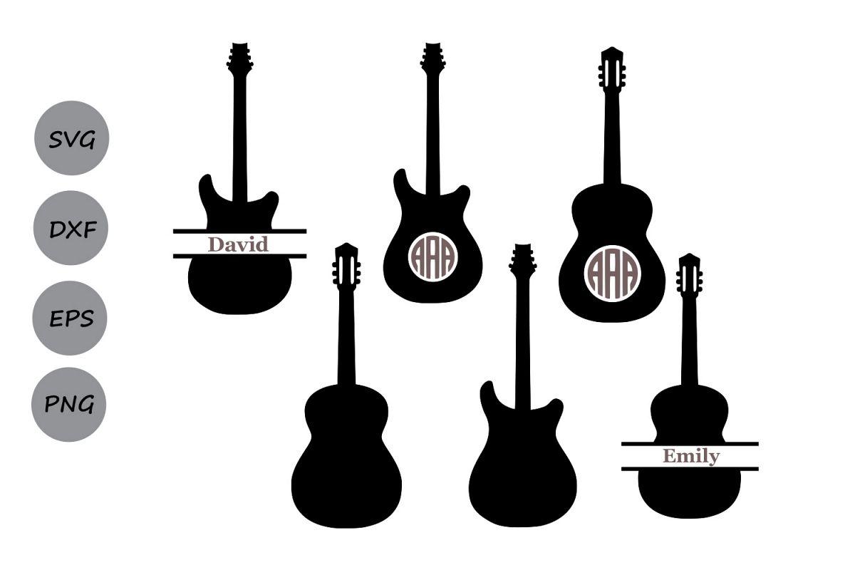 Files monogram cut electric. Clipart guitar svg