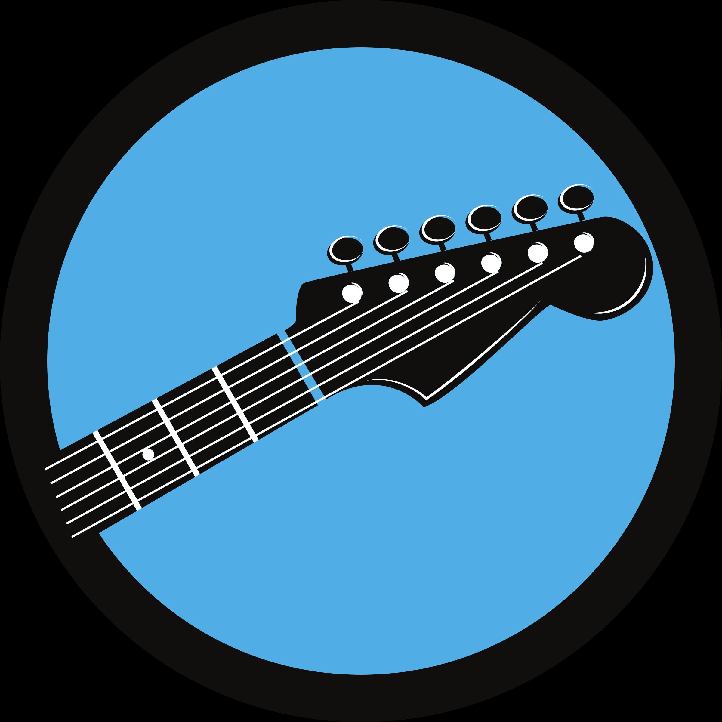 Clipart guitar symbol. Circle big image png