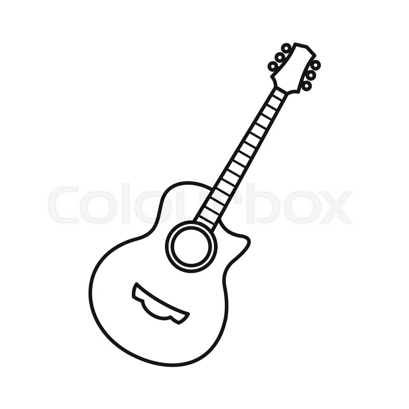 Icon free icons library. Clipart guitar symbol