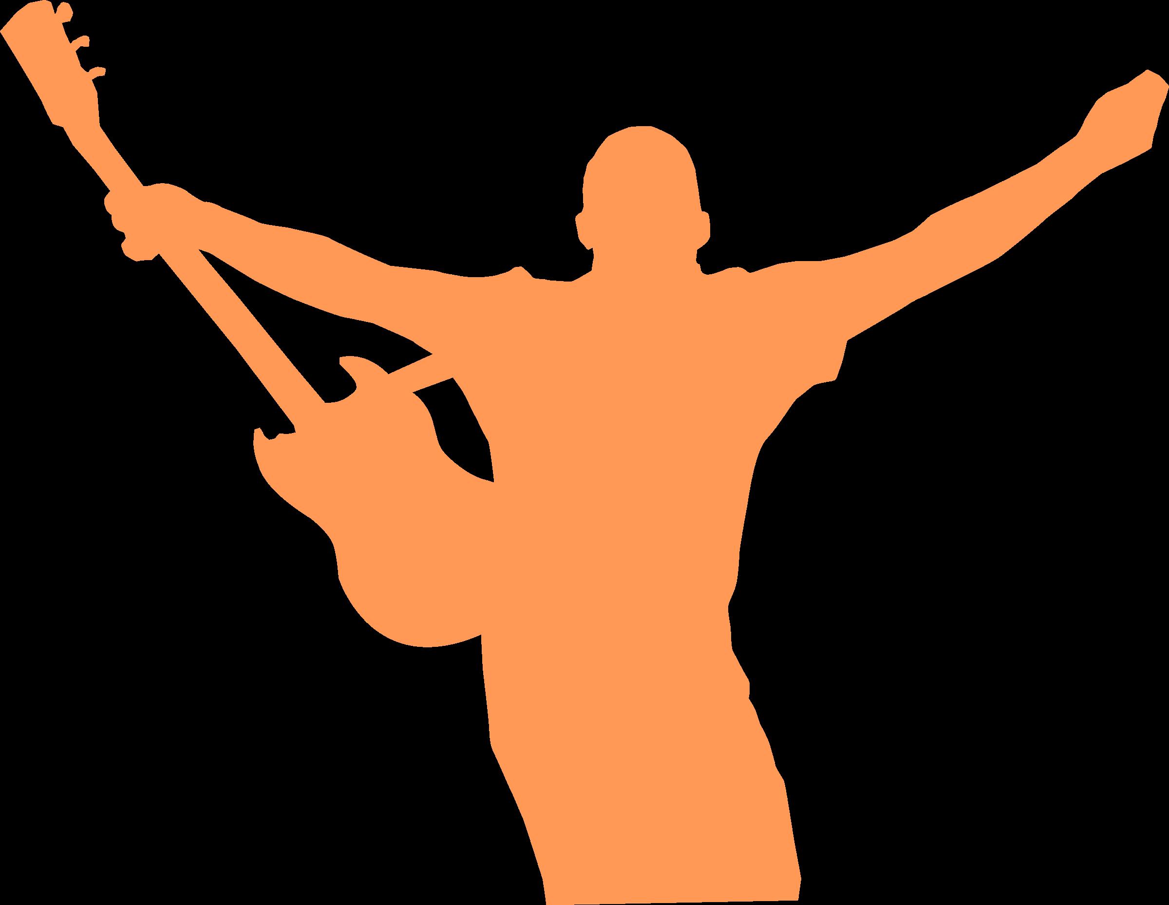 Clipart guitar symbol. Man and big image