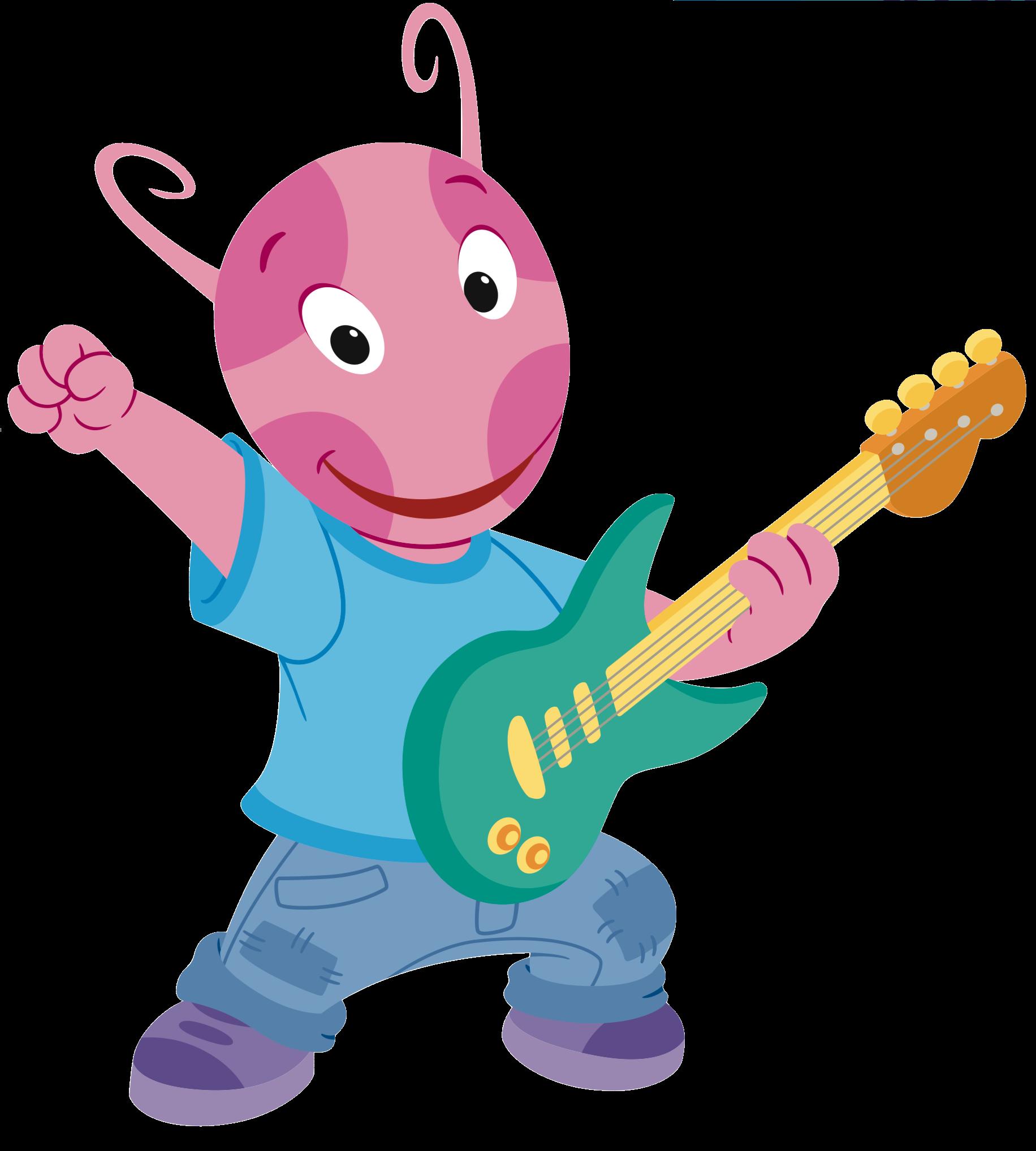 Play clipart let's play. Guitarist uniqua the backyardigans