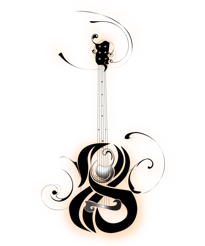 Clipart Guitar Tribal Clipart Guitar Tribal Transparent Free For