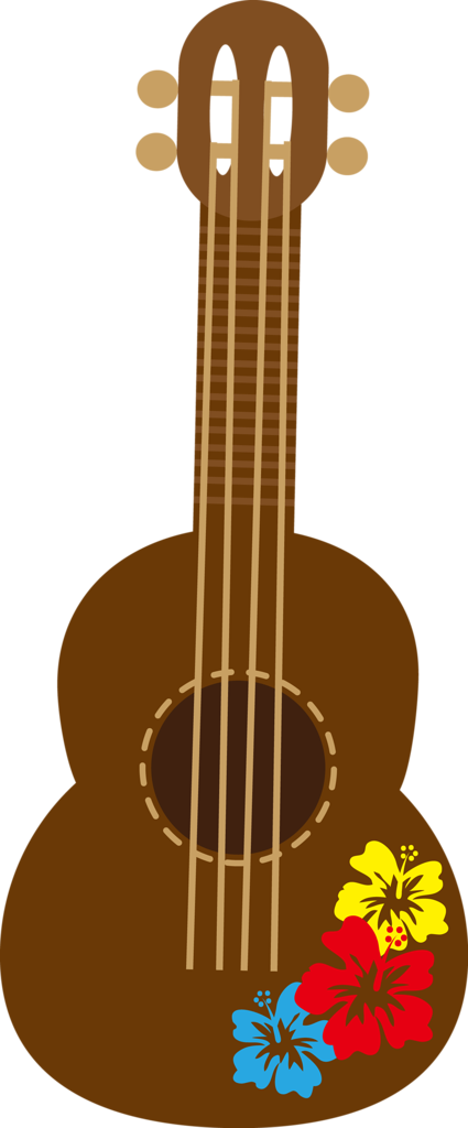 collection of hawaiian. Clipart guitar ukelele
