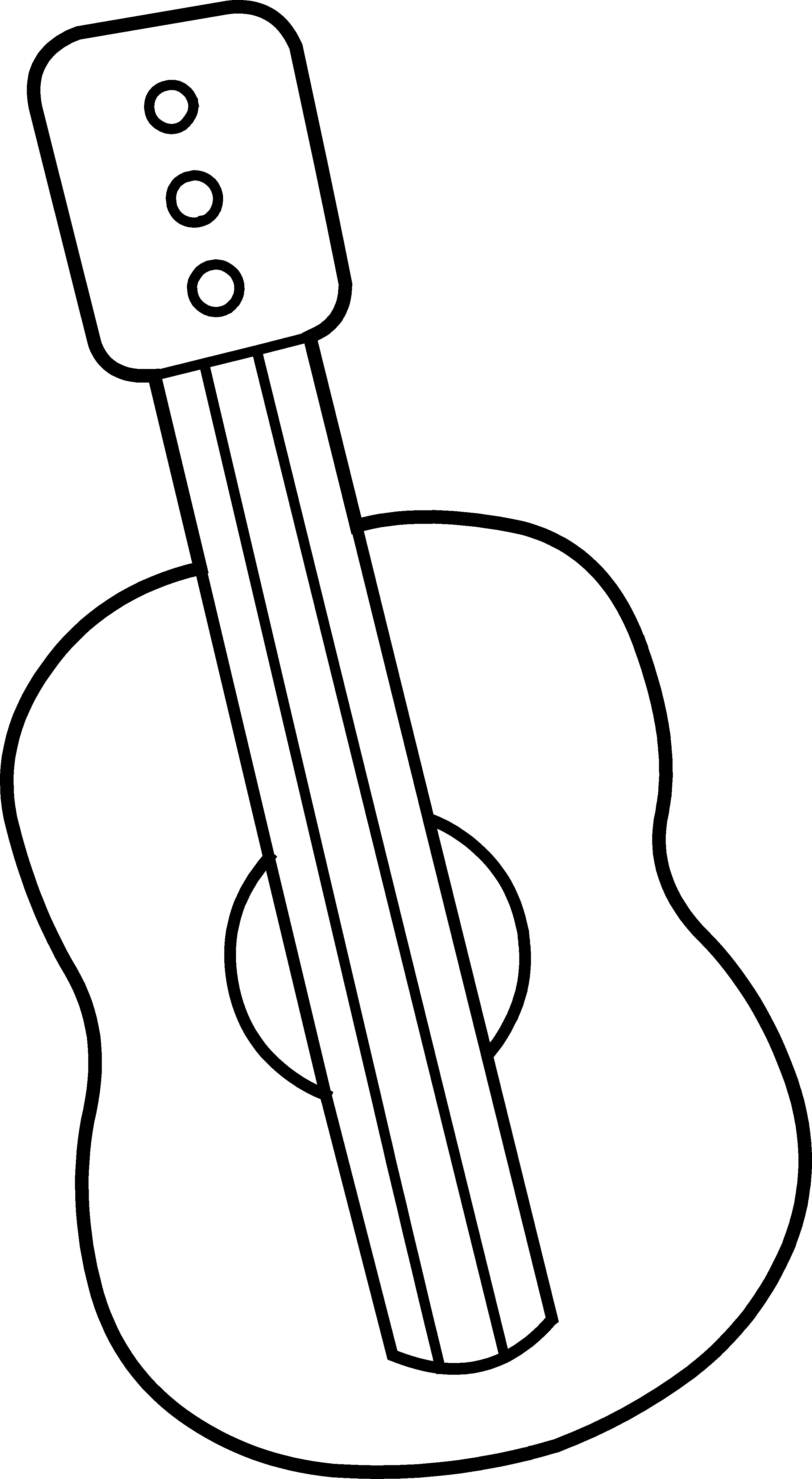 White clipart guitar. Free download best on