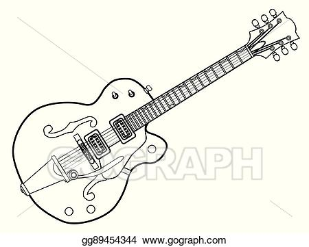 Clipart guitar western guitar. Vector art country and
