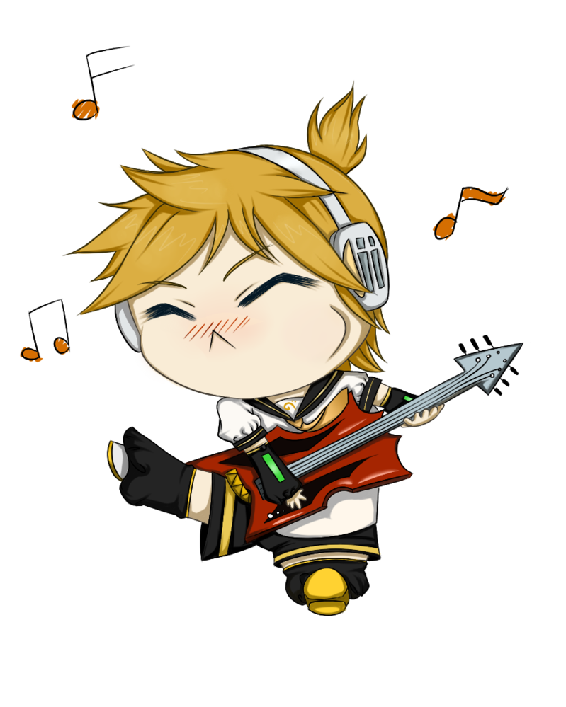 Vocaloid len by darkwingedlover. Clipart guitar winged