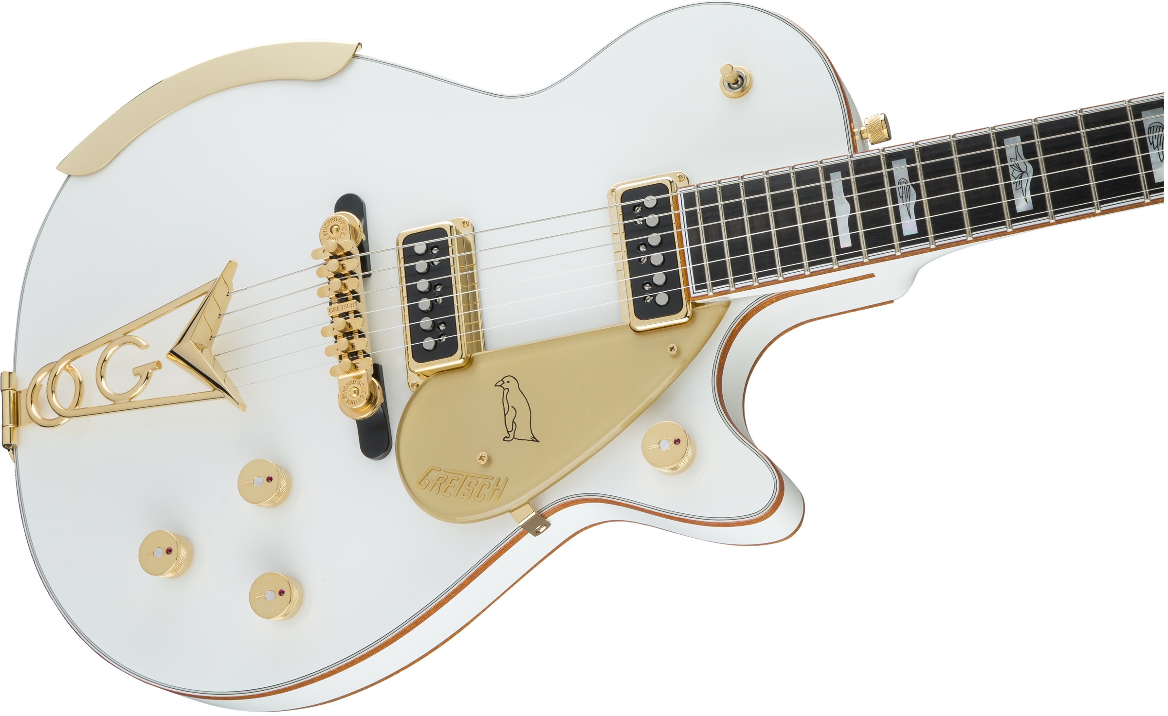 Solid body g white. Clipart guitar winged