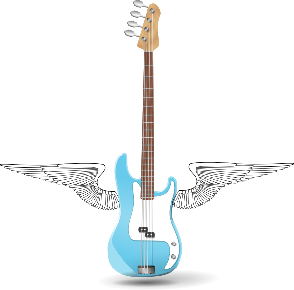 Wing clip art at. Clipart guitar winged