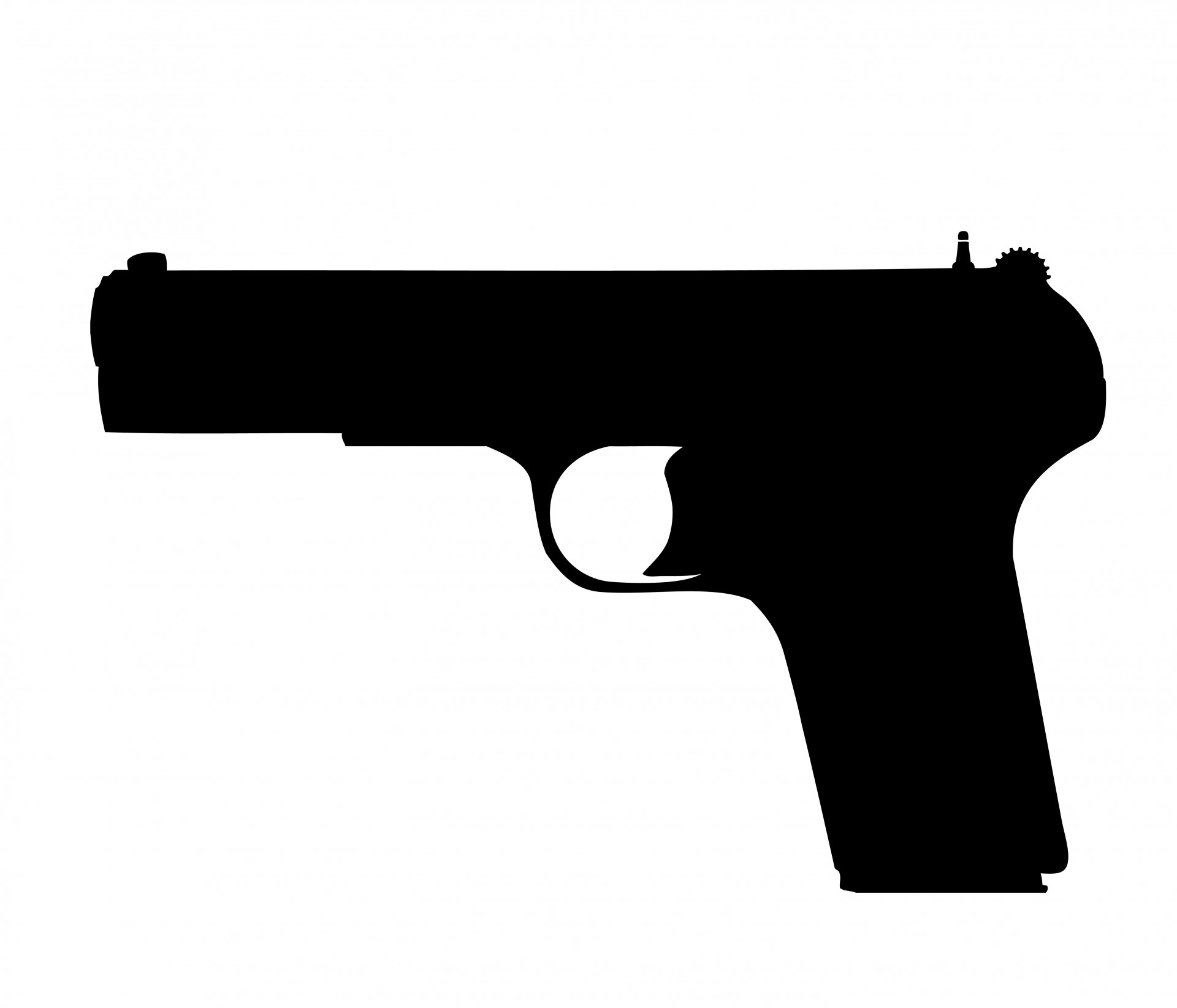 Clipart gun. Pistol free stock photo