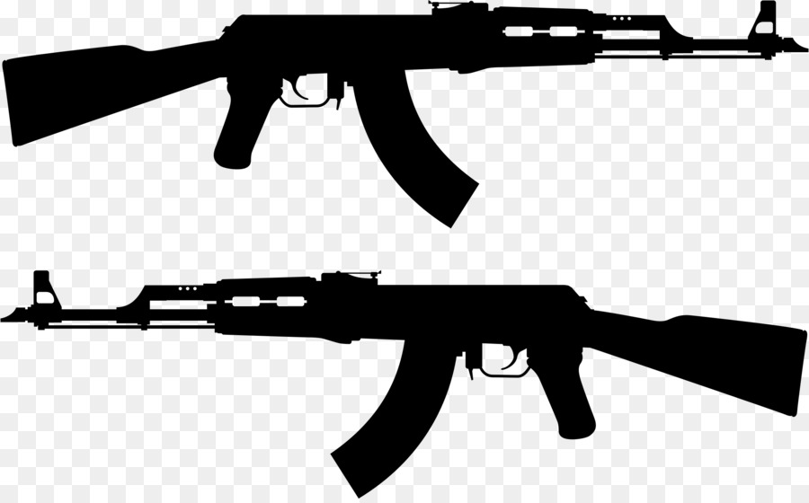 Clipart gun. Ak machine firearm clip