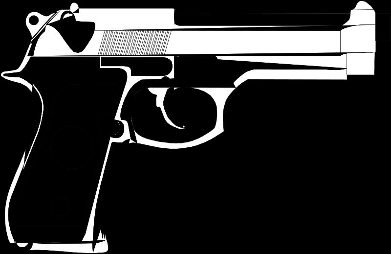 Clipart gun 9mm. Free clip art mm