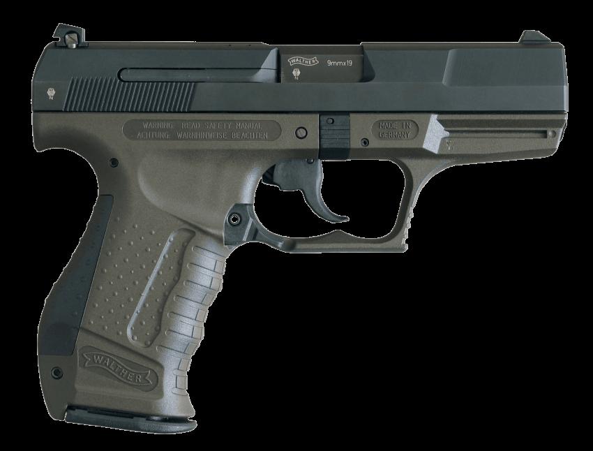 Classic mm greenish png. Clipart gun 9mm