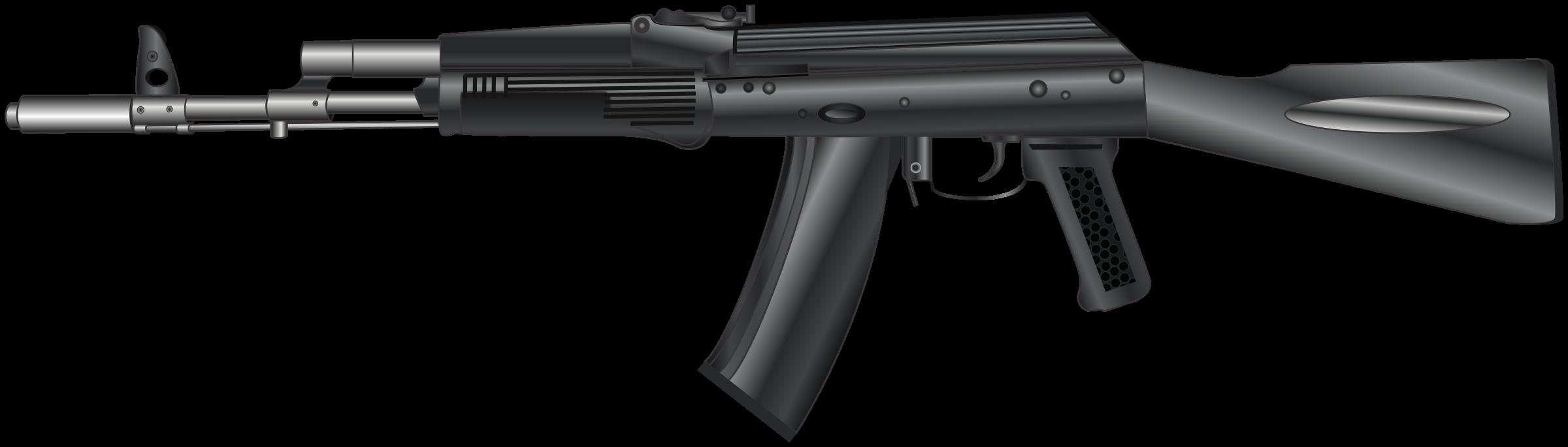 Gun clipart ak47. Ak kalashnikov rifle big