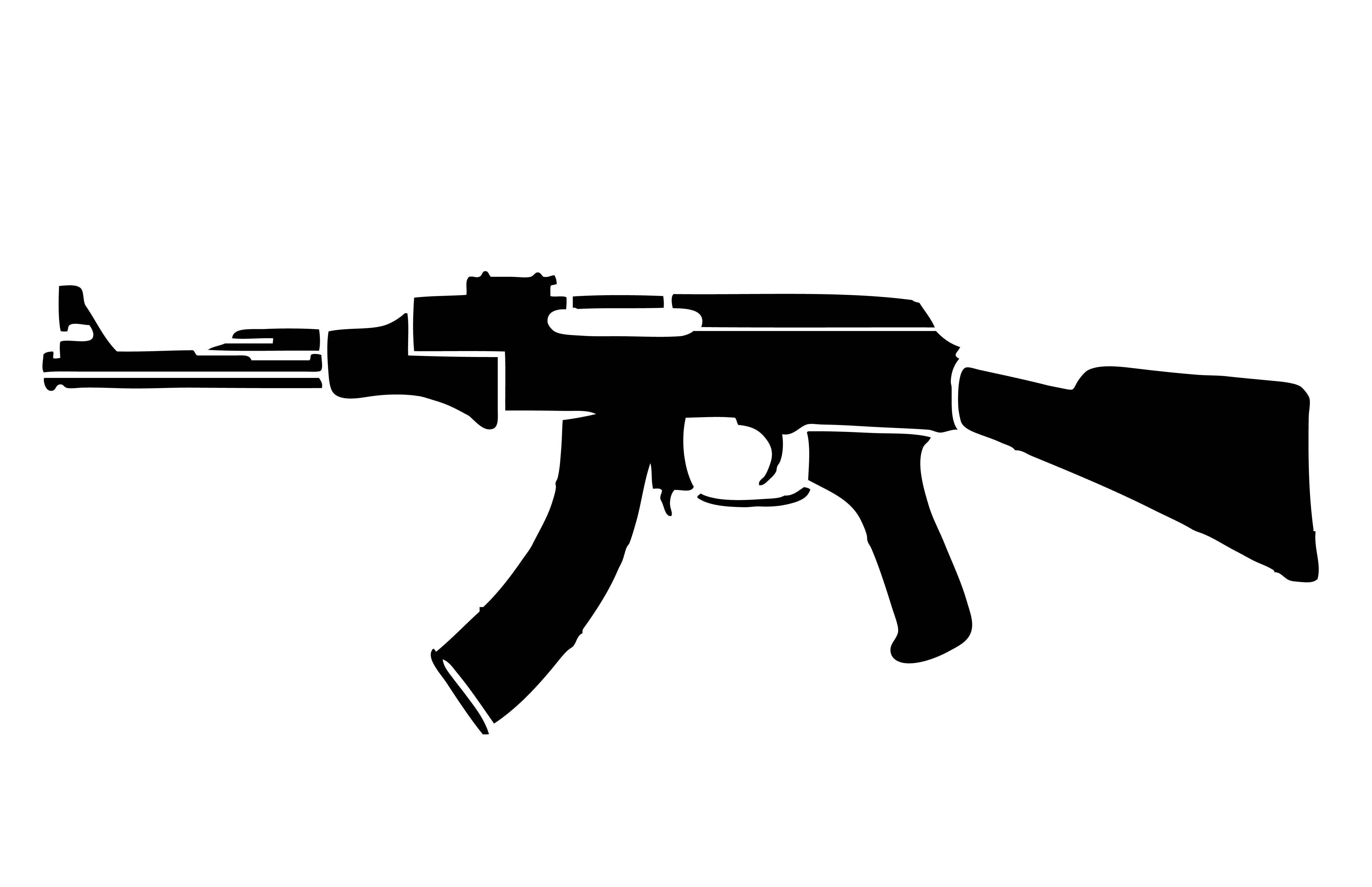 Free ak cliparts download. Gun clipart ak47
